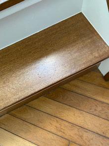 階段踏面へこみ補修、町田市鶴川